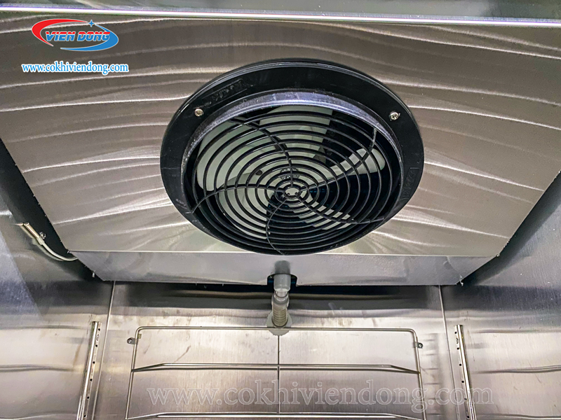hệ thống quạt gió của tủ đông